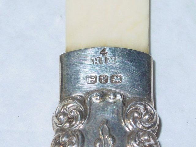 Antique ivory letter opener Birmingham 1898