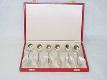 Antique tea spoons set Denmark 1934