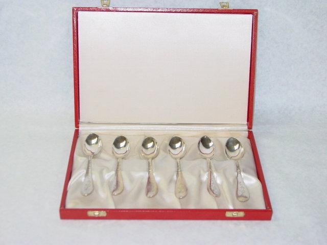 Antique tea spoons set Denmark 1934