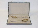 Antique pair fruit spoons George III London 1842