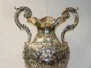 Rococò amphora vase Italian 1950