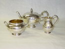 Antique tea set Victorian Edimburgh 1869