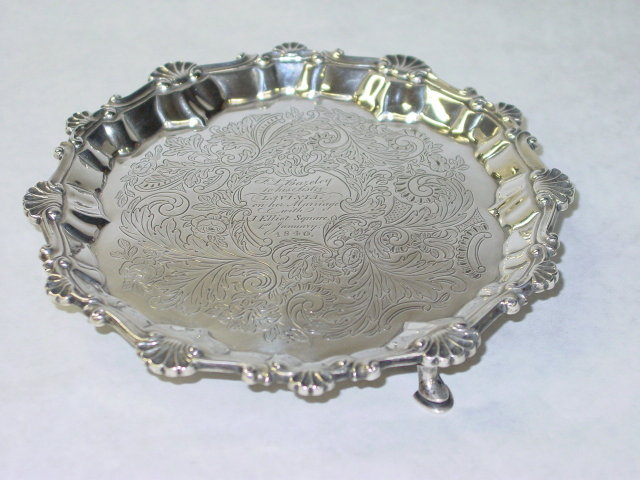 Antique salver George III London 1773