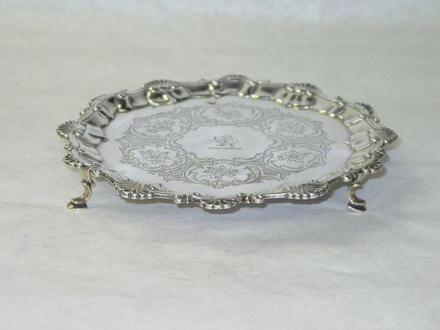 Antique salver George II London 1757