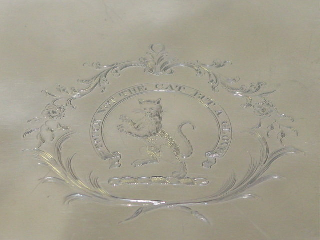 Antique salver George III London 1774
