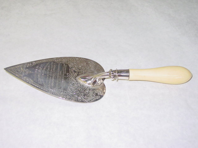 Antique commemorative trowel London 1894