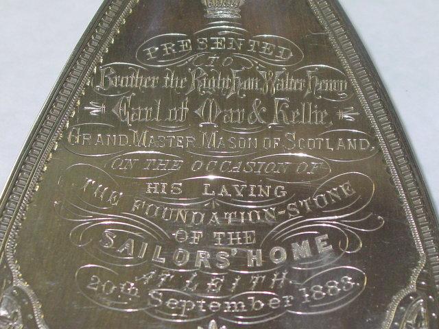 Antique commemorative trowel Victorian  Birmingham 1883