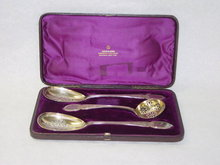 Antique cutlery serving set Victorian Newcastle 1878