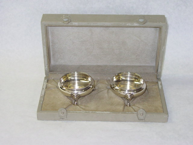 Antique pair salt cellars George III London 1760