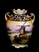 Nippon Windmill Vase