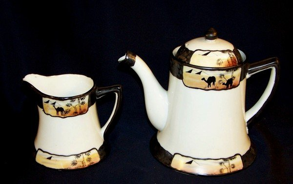 Nippon Tea Pot and Creamer