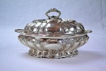 Gorham Chantilly Covered Sterling Silver Vegetable Dish (2 available)
