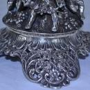 German Coin Silver Etched Crystal Compote