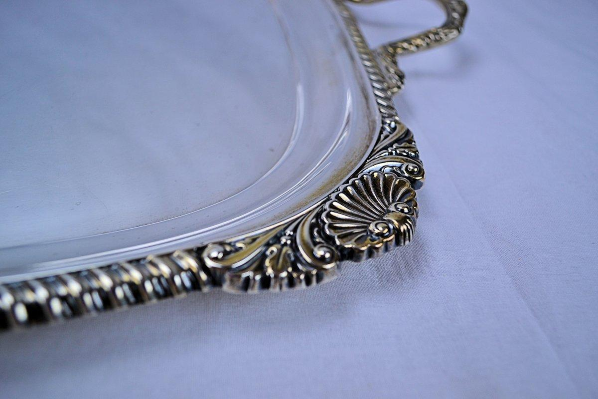 Charles Boyton English Sterling Silver Regency Waiter Tray