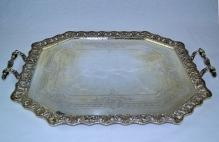 West & Sons Irish Sterling SIlver Waiter Tray