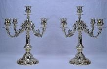 Gorham Chantilly Sterling Silver Candelabra (Pair)
