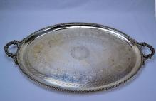 J.E.W & J. Barnard English Sterling Silver Waiter Tray