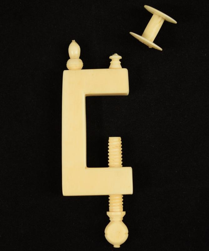 Antique Pre-Ban Ivory Sewing Collectible - Clamp