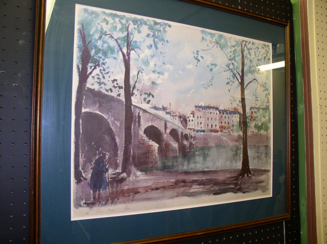 Guy de Neyrac Watercolor, Listed Artist