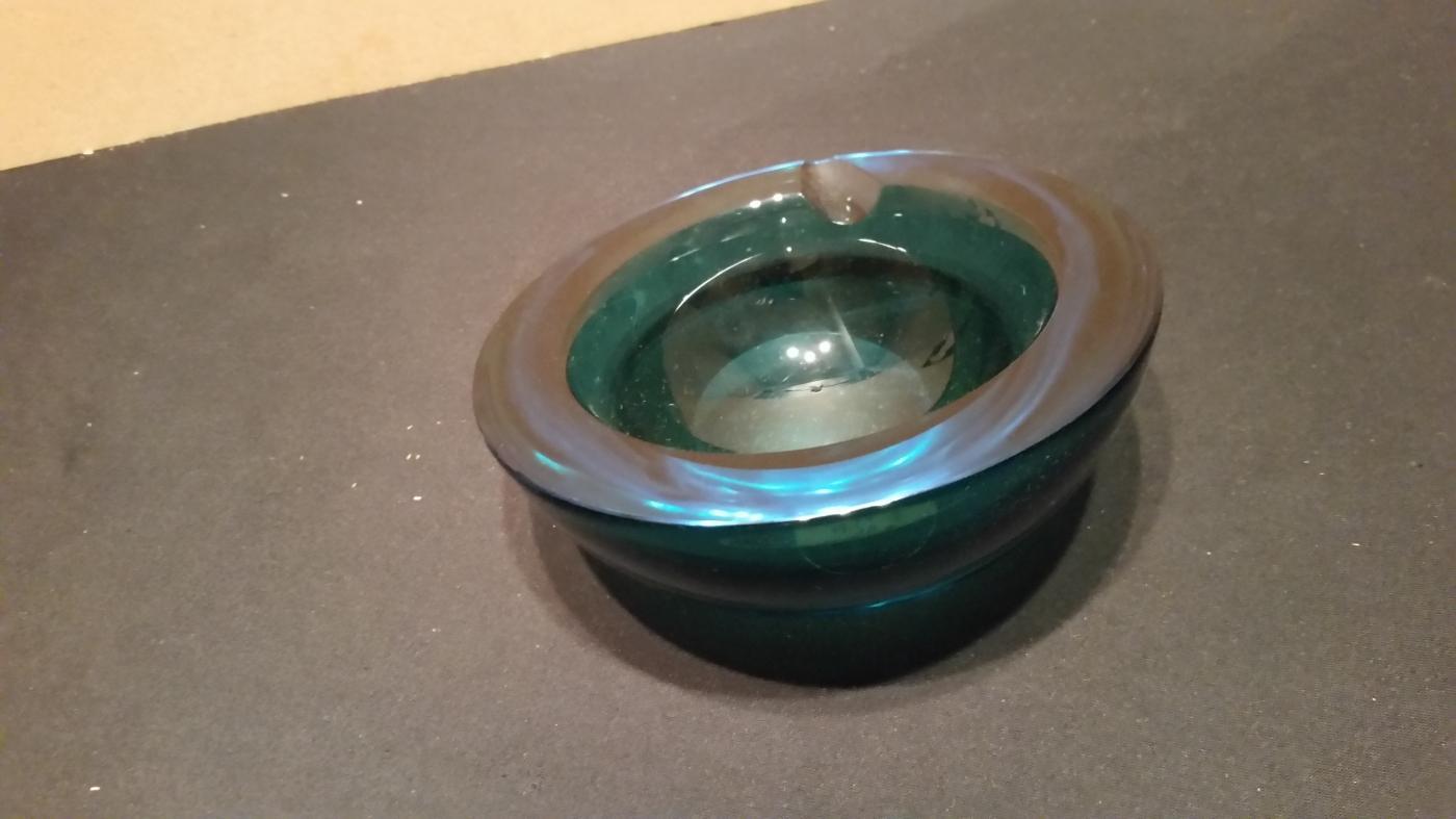 Glass Dark Blue Murano Ashtray