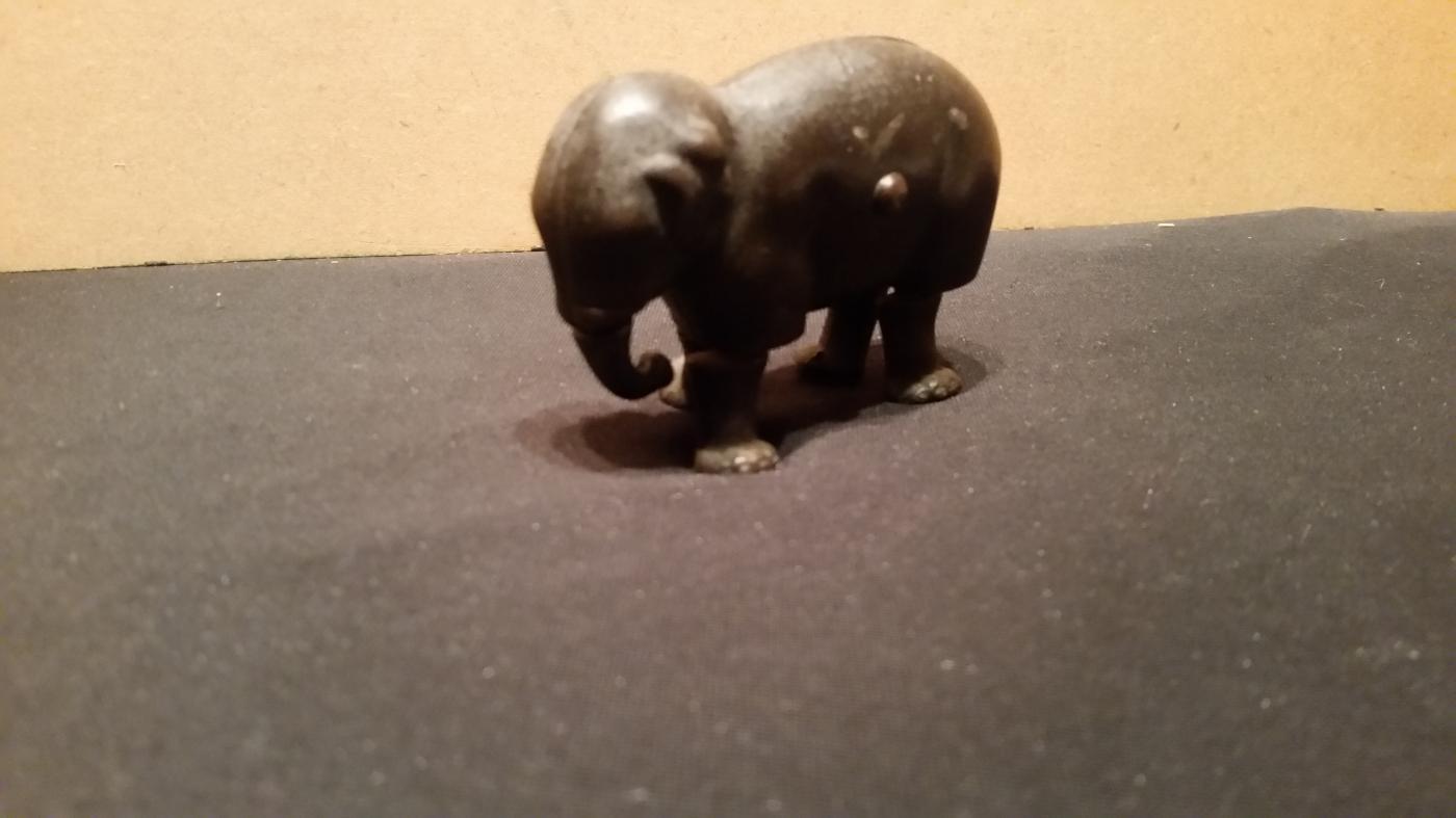 Ives Cast Iron Crawling Elephand 1873