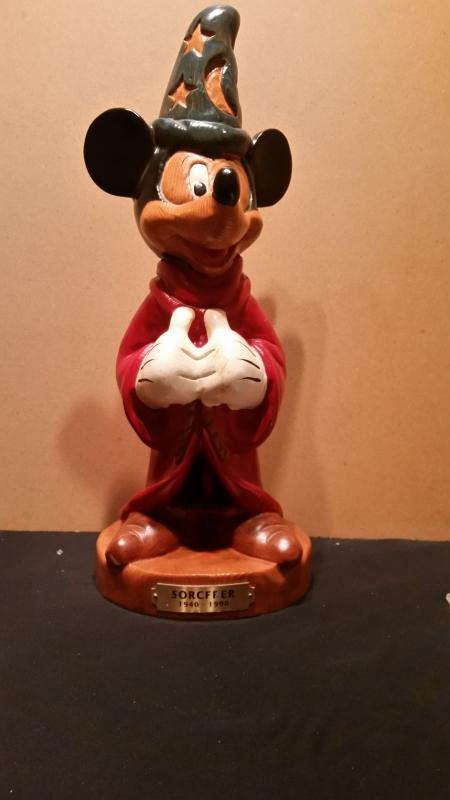 Mickey Mouse Sorcerer Hand Carved Wood