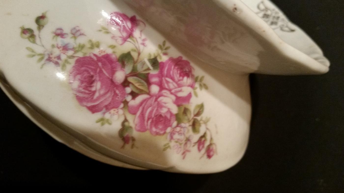 Spittoon Ladys German Porcelain