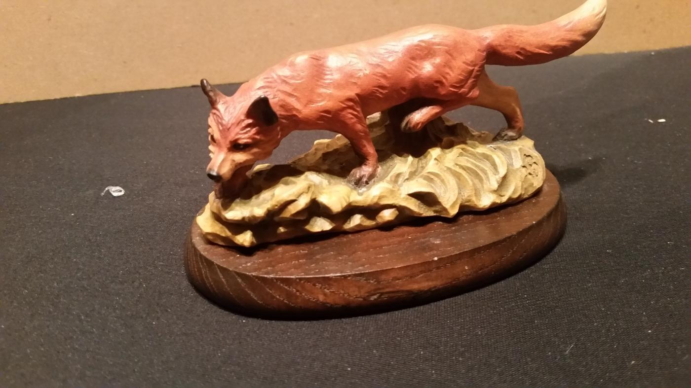 Anri Fox Hand Carved Wood by Gunther Granger