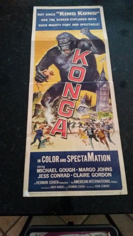 Movie Poster Insert 1961 Konga