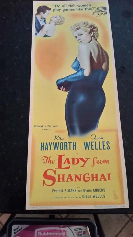 Movie Poster Insert The Lady From Shanghai 1947