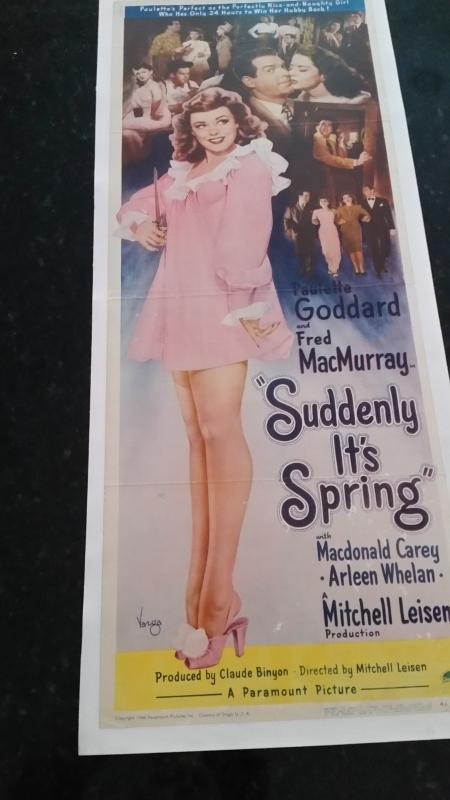 Movie Poster Suddenly it's Spring 1947 Vargas