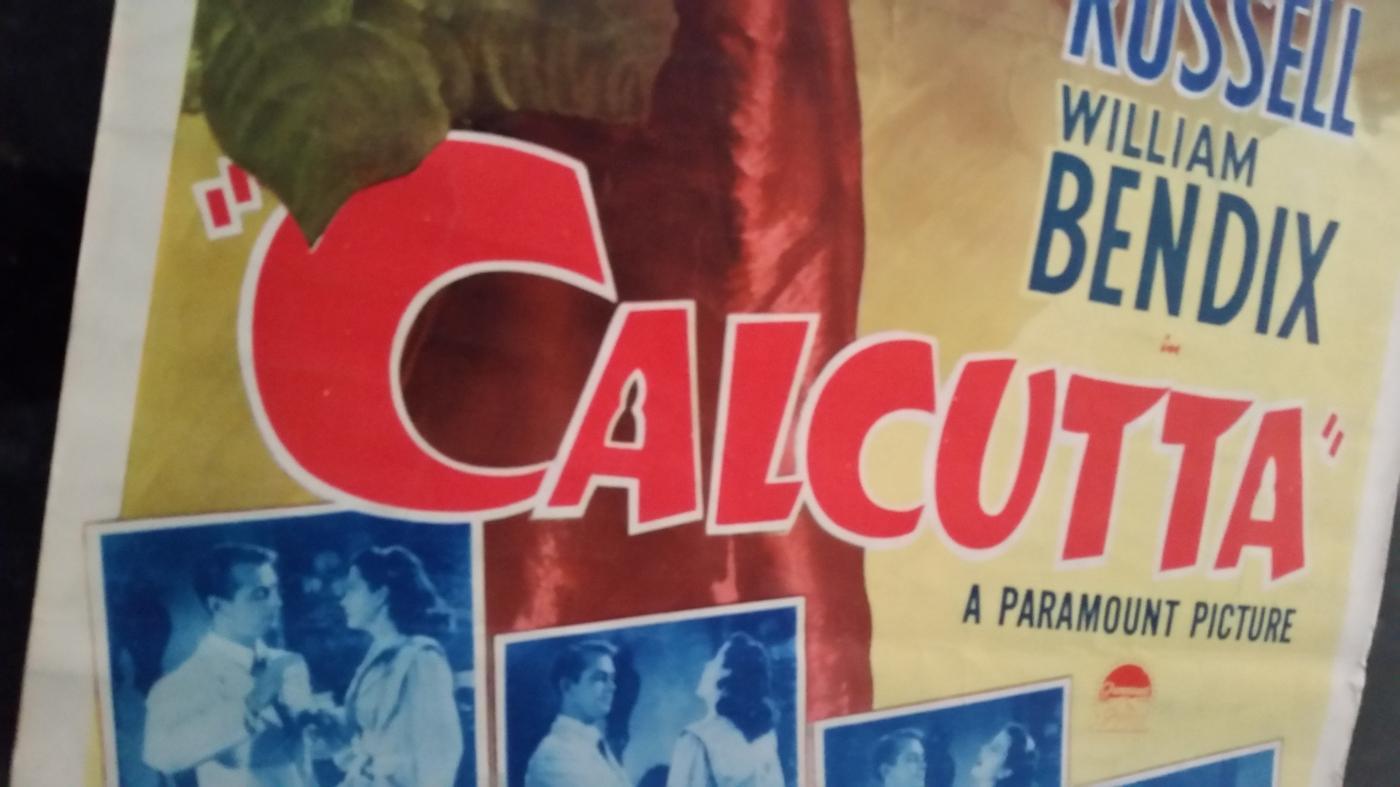 Movie Poster Calcutta 1946 Alan Ladd