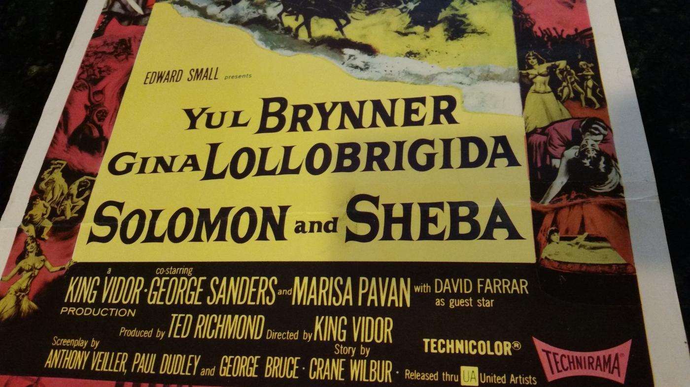Movie Poster Solomon and Sheba 1959