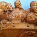 The Last Supper Hand Carved Wood 16.5 Inches