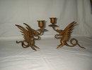 Brass Dragon Candleholders TS1004