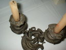 Double Antique French Bronze Candleholder