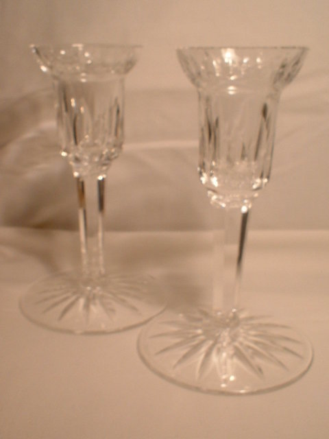 A  Pair of  Vintage  Waterford  Candlesticks
