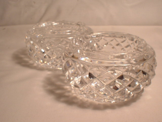 Pair of Waterford Diamond Cut  Ash Trays