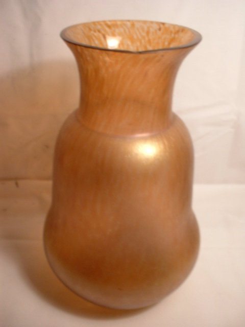 Amber Irredesent Loetz Vase