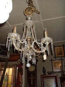 Three Light Custom Made Brass Chandalier