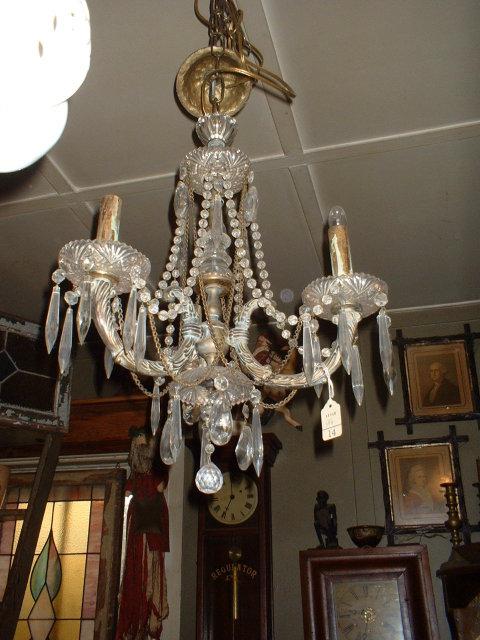 Three Light Custom Made Brass Chandalier