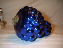 Cobalt Blue Victorian Glass Christmas Ornament