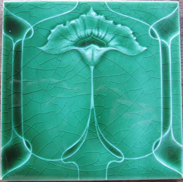 Antique English Art Nouveau Tile - Henry Richard