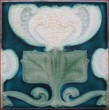 Antique Pilkington's Art Nouveau Tile - Voysey?