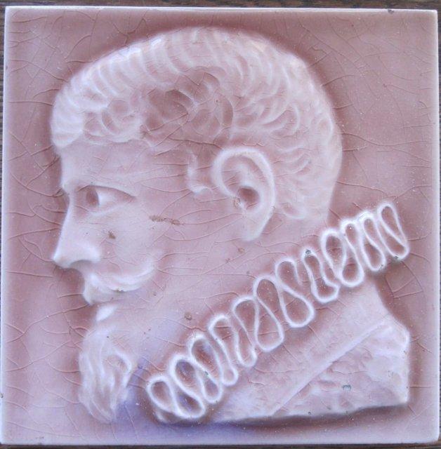 Antique American Portrait Tile