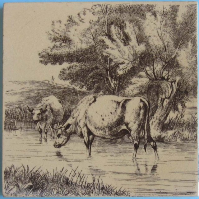 Antique English Series Picture Tile - William Wise