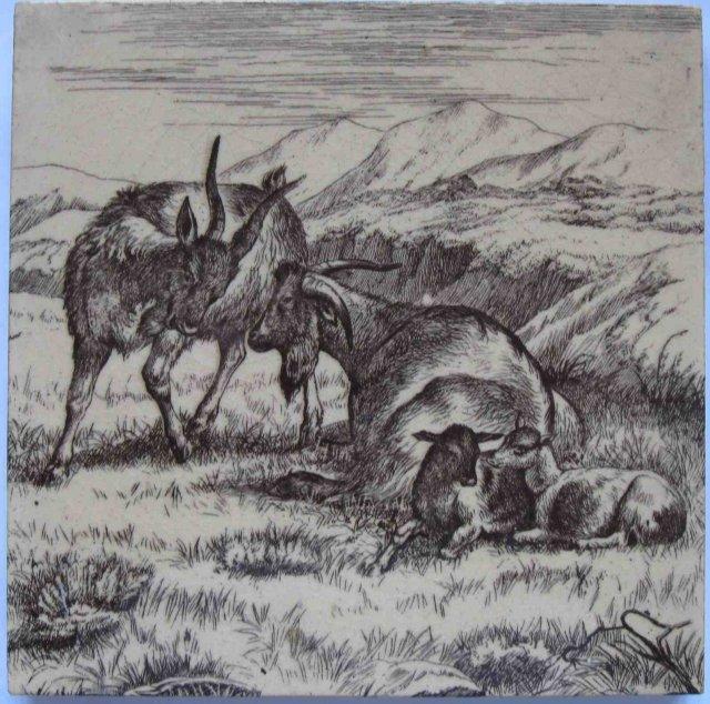 Antique English Picture Tile - William Wise
