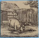 Antique English Picture Tile - William Wise
