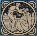 Antique Minton China Works Picture Tile - Industrial