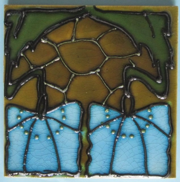 Antique Minton Art Nouveau/Secessionist Tile